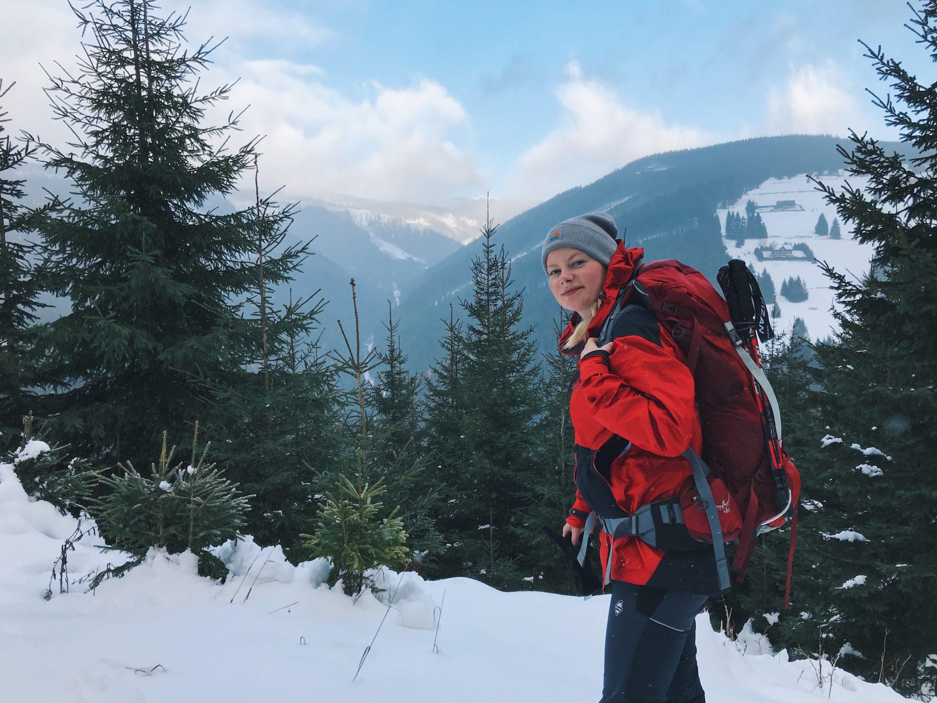 krkonoše, hory, turistika, zima, sníh