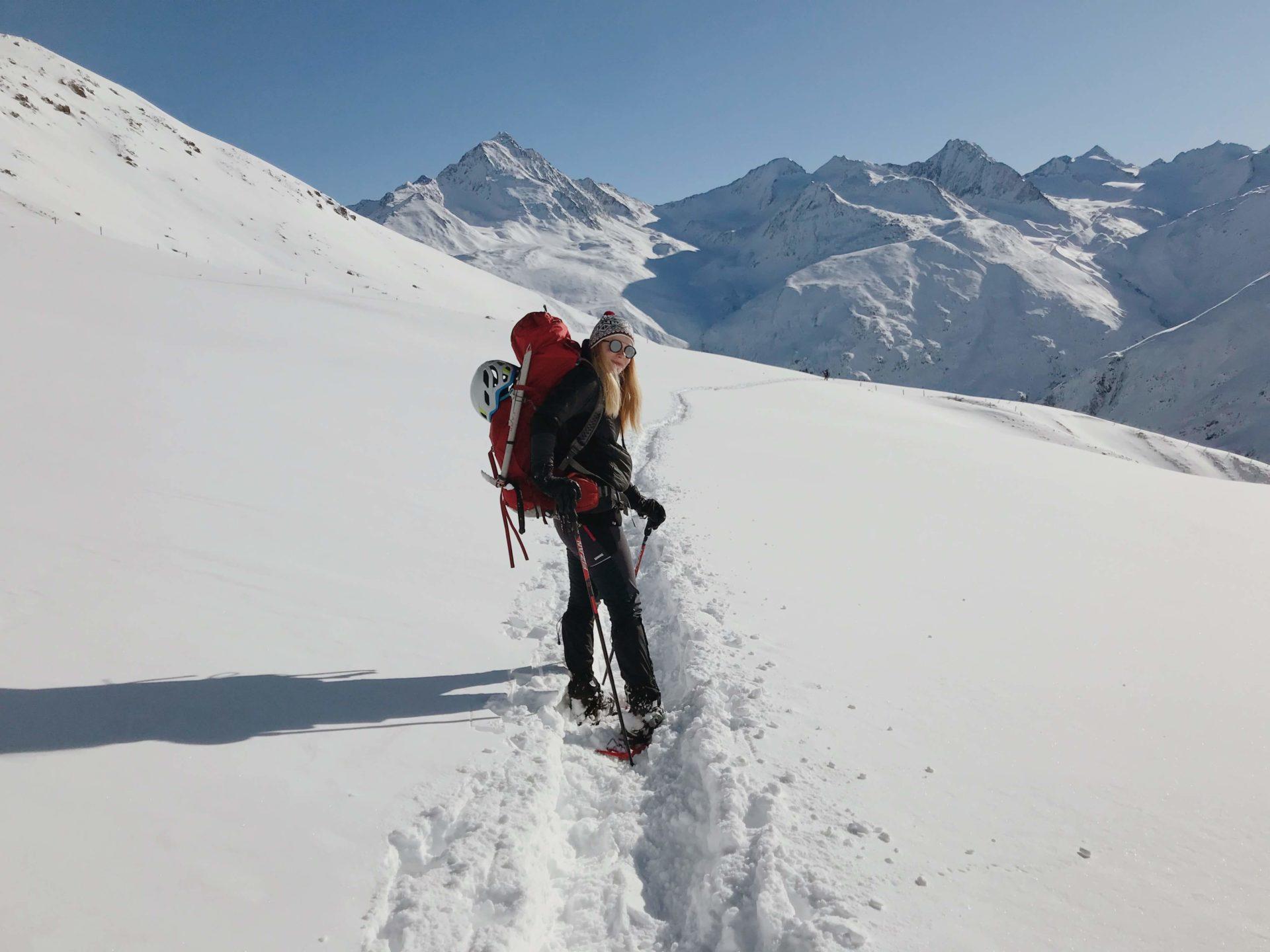 wildspitze, sníh, hory, zima, vysokohorská turistika, alpinismus